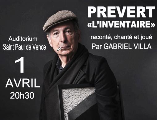 2016 – Spectacle «Mon ami Prévert »