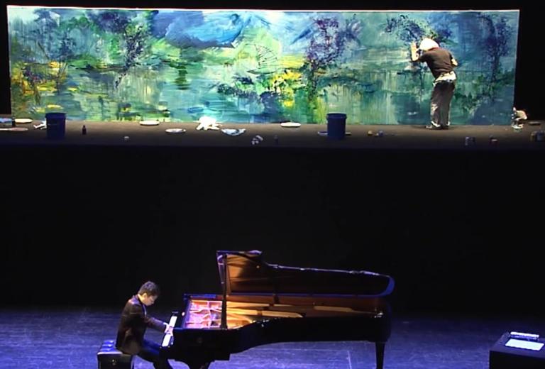 2013 – BLUE : concert peinture et musique, Shanghai Concert Hall
